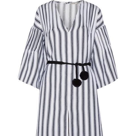 Elvira Striped Linen and Cotton-Blend Kaftan