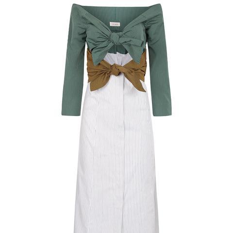 Multi Double Knot Long Sleeve Dress