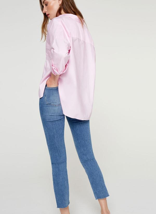 Uterqüe Pink Oversized Shirt