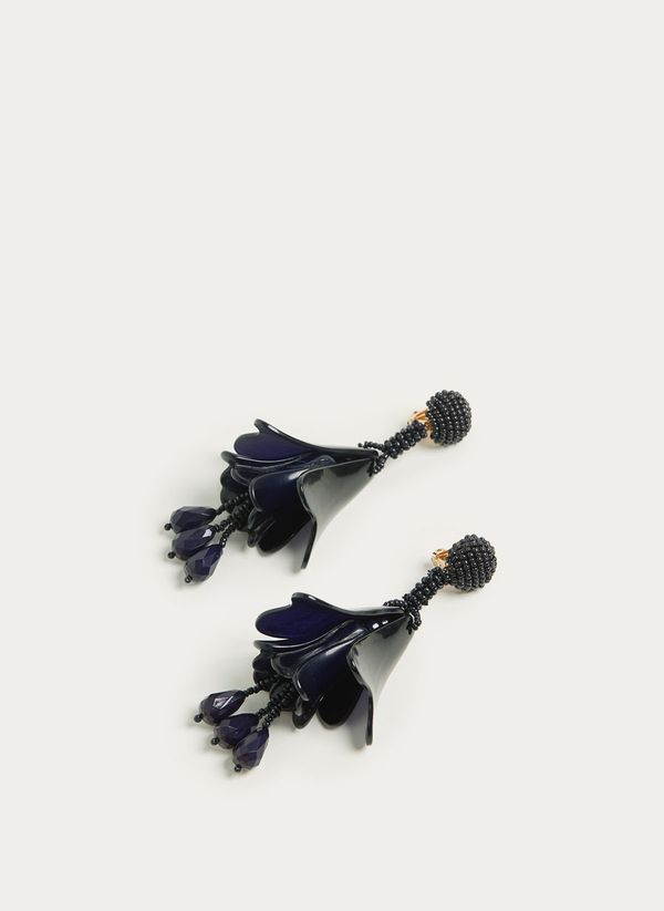 Uterqüe Long Bell-Shaped Earrings
