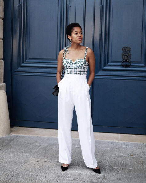 Style Notes: The bustier topis still having a moment, and if you've been struggling with the trend, this smart summer tailoring is the way to go.