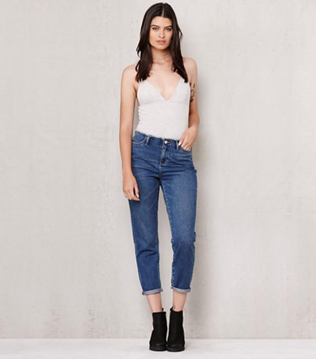 PacSun Savanna Blue Frayed Waist Mom Jeans