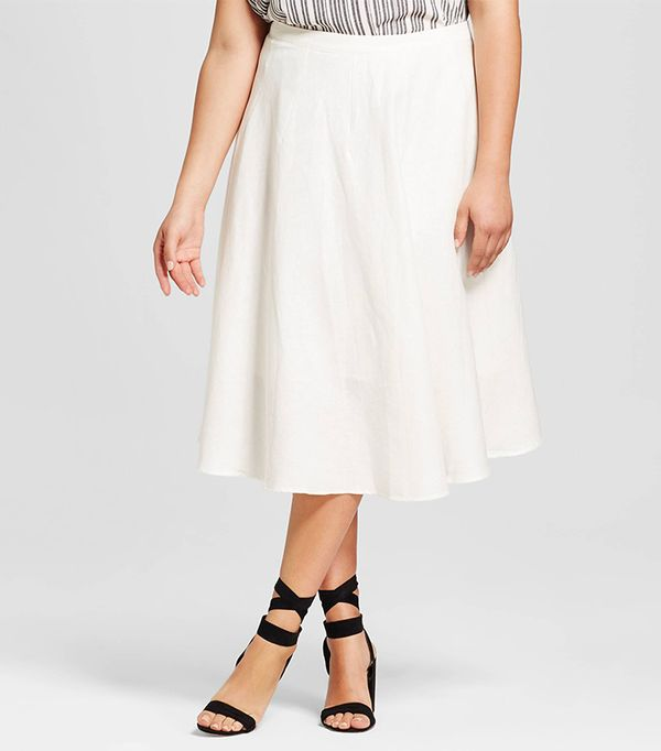 Who What Wear Plus-Size Swing Skirt