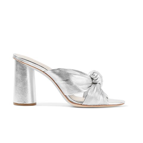 Coco Knotted Metallic Leather Mules