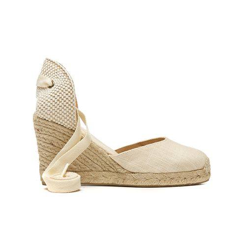 Linen Tall Wedge