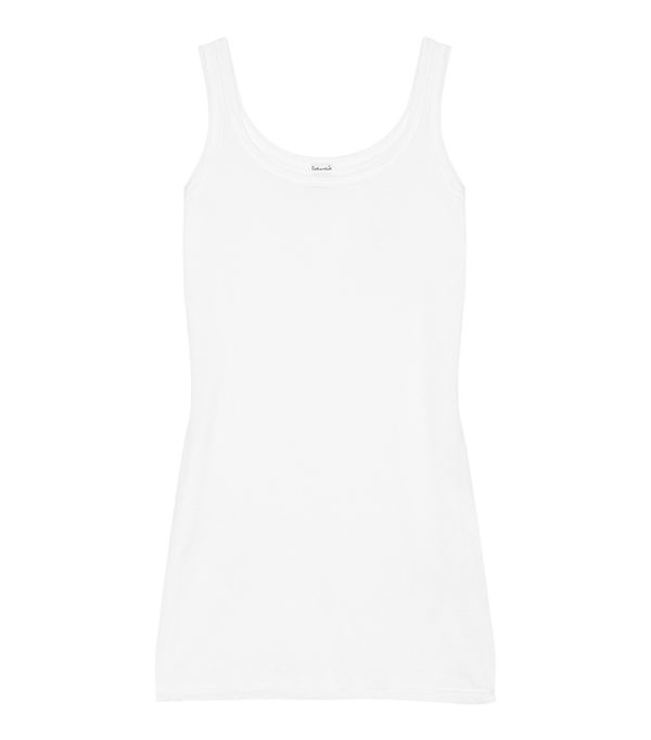 Cotton And Modal-blend Jersey Tank