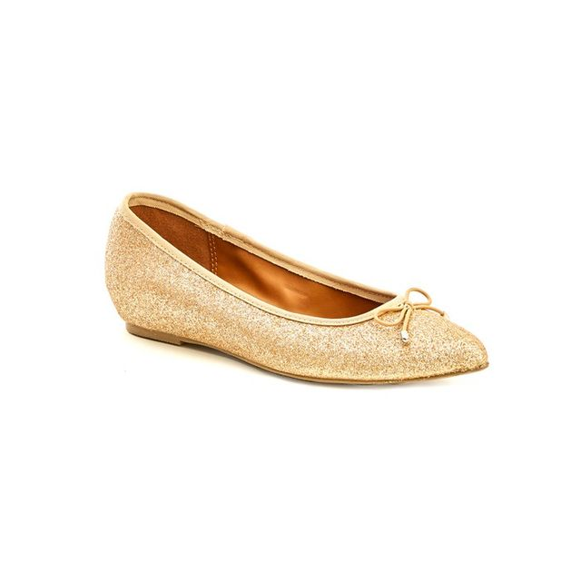 Candie's Metallic Pointed Toe Flats