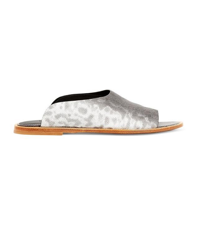 Vince Lynnis Lizard-Effect Leather Slides