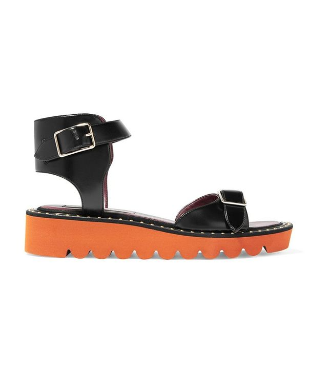 Stella McCartney Studded Faux Leather Sandals
