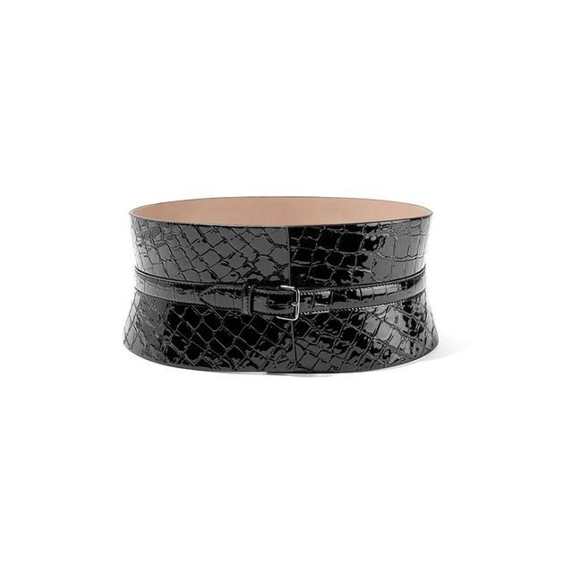 Alaïa Croc-Effect Leather Belt