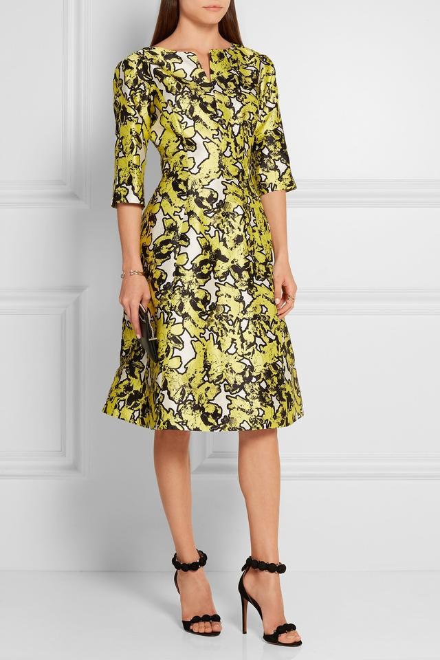 Oscar de la Renta Silk Jacquard Dress