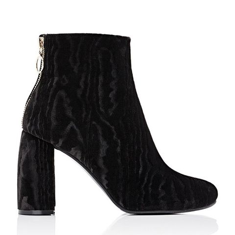 Back-Zip Ankle Boots