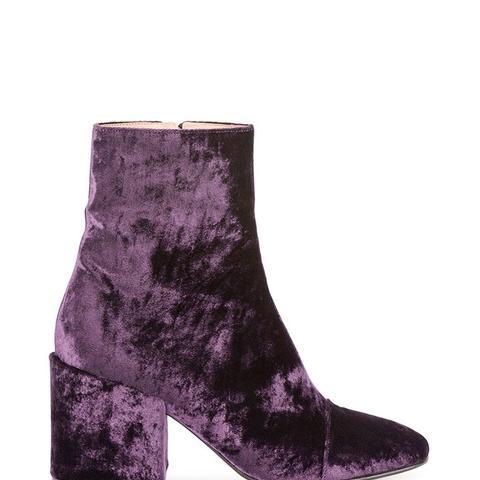 Crushed Velvet 80mm Ankle Boot