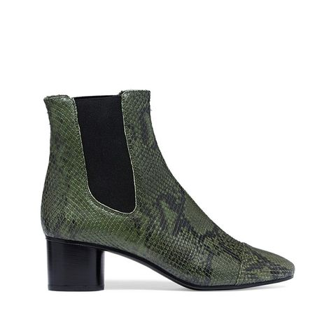 Danae Python-Effect Leather Anke Boots
