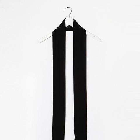 Long Skinny Scarf In Black