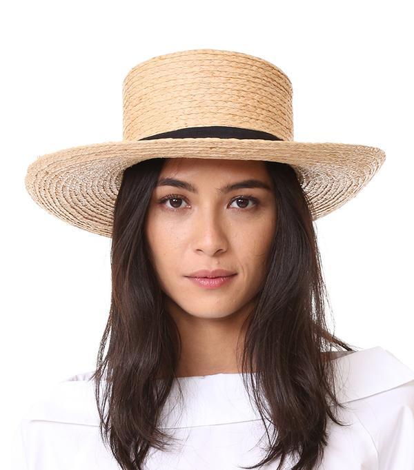 Raffia Braid Boater Hat