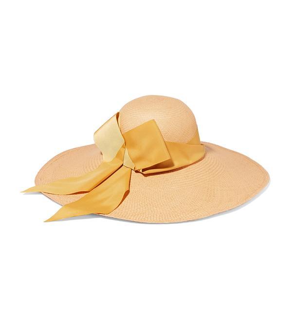 Lady Ibiza Bow-embellished Toquilla Straw Hat