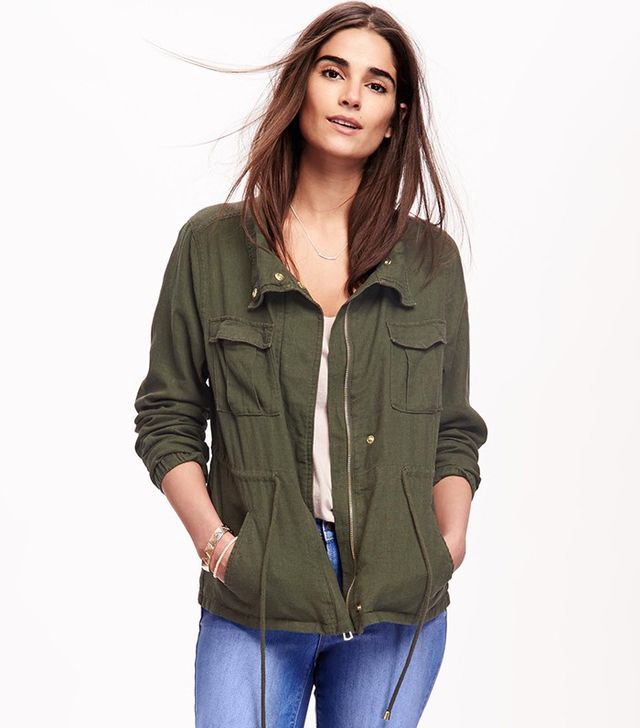 Old Navy Linen-Brand Field Jacket