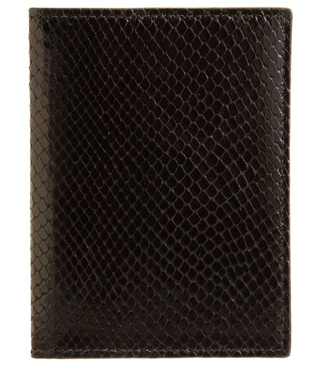 Barneys New York Python-Embossed Passport Cover