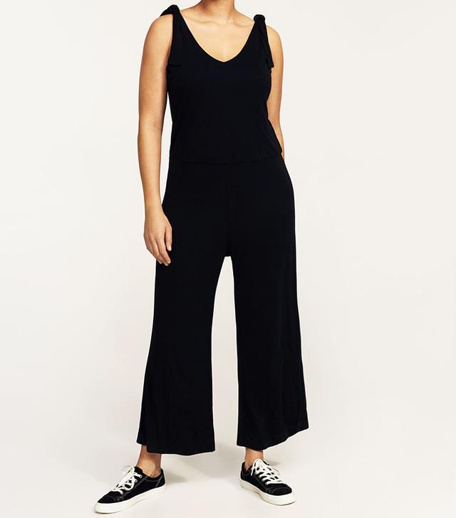 Sleeveless bow jumpsuit
