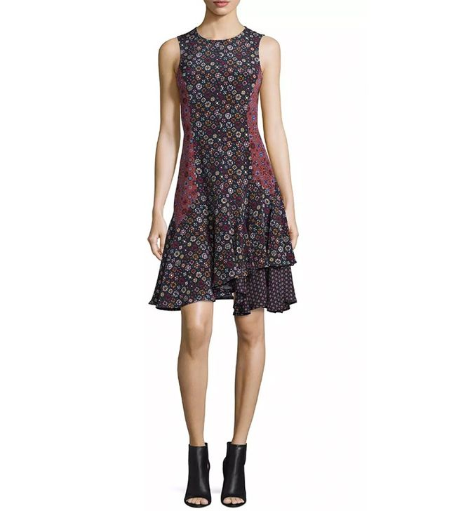 Derek Lam 10 Crosby Sleeveless Floral Silk Tank Dress