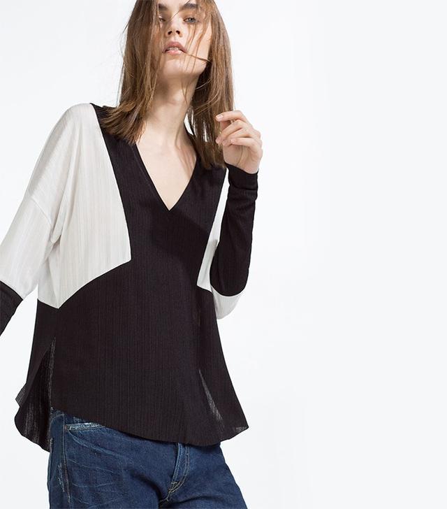 Zara Color Block Top