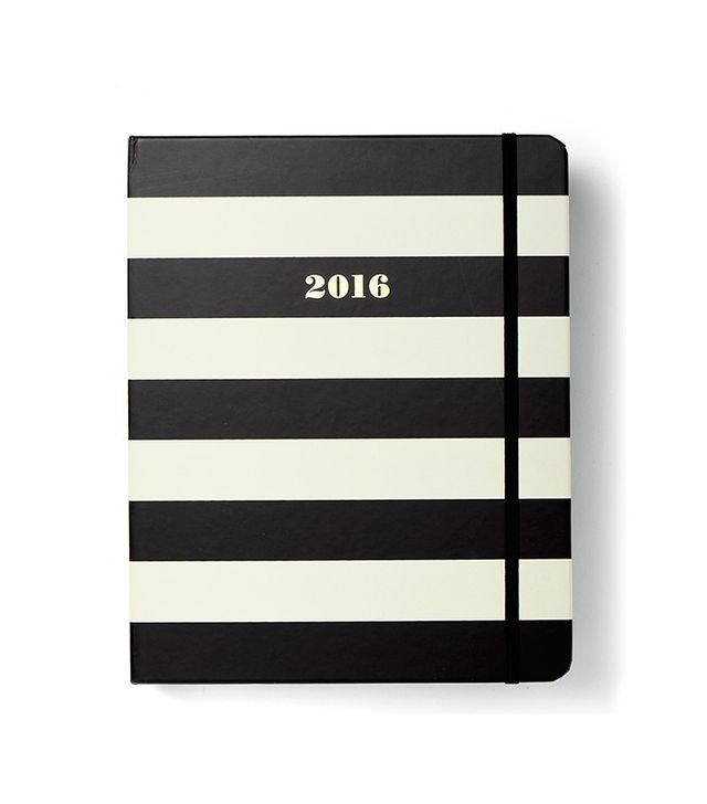 Kate Spade Large Black Stripe 17 Month Agenda