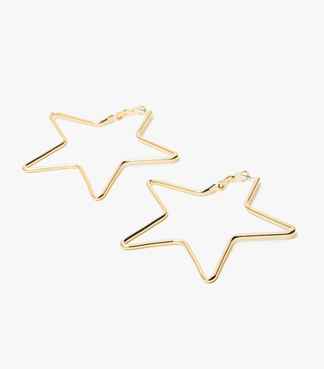 Tuleste Large Star Earrings in Gold