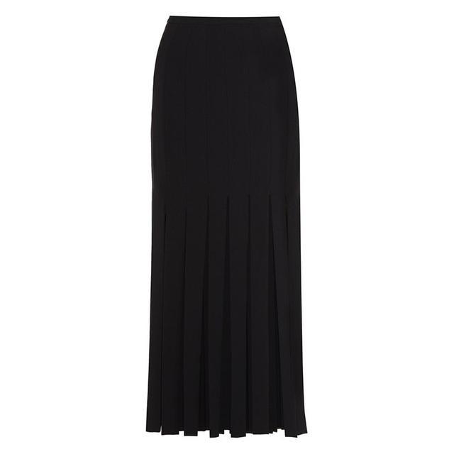 Tamara Melon Fringed Stretch-Crepe Skirt