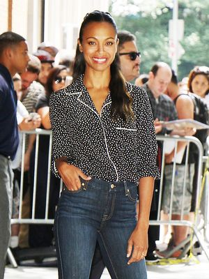 Zoe Saldana Just Wore Your Next Chic Work Outfit