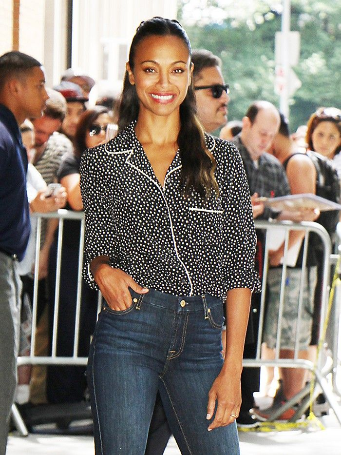 Zoe Saldana Just Wore Your Next Chic Work Outfit  Who What Wear-8269