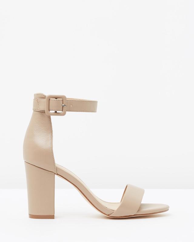 Atoms & Here Lisa Leather Block Heels