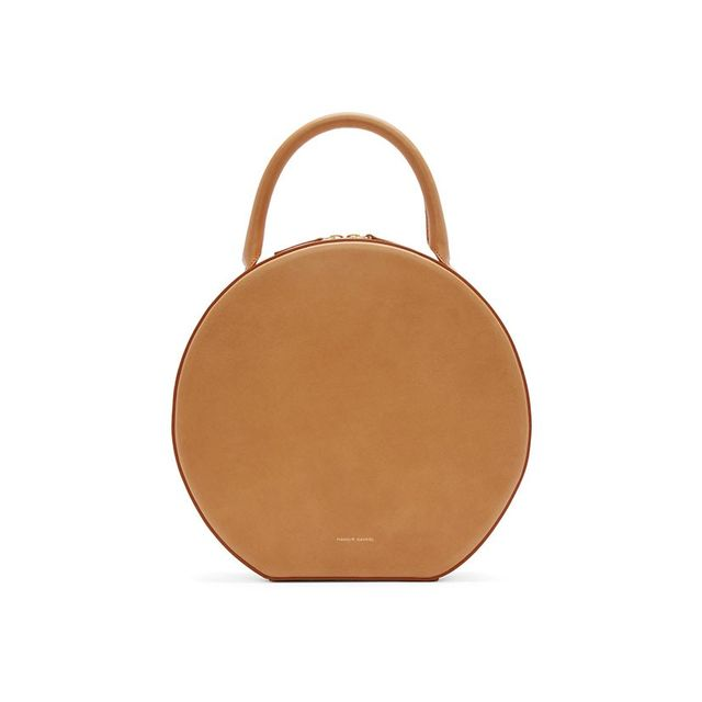 Mansur Gavriel Tan Leather Circle Bag