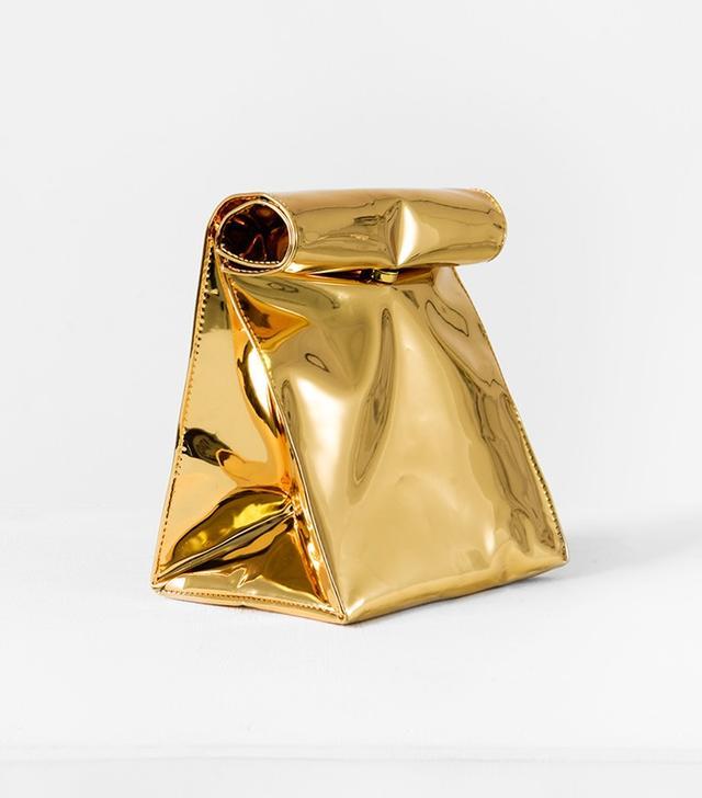 SMK Gold Foldover Bag