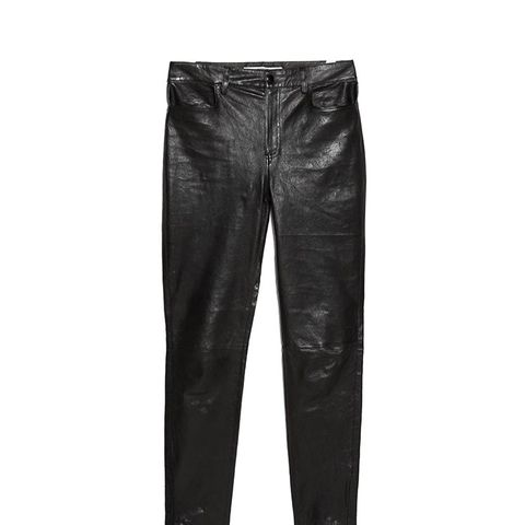 High Waisted Leather Trousers