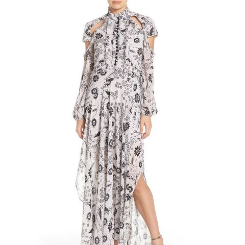 Ashley Cutout Print Maxi Dress
