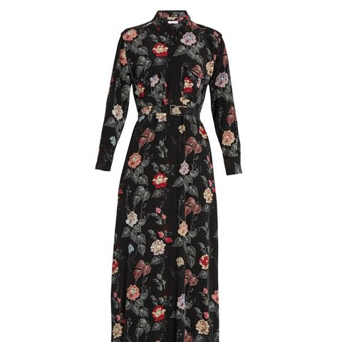 Major Floral-Print Silk Maxi Dress