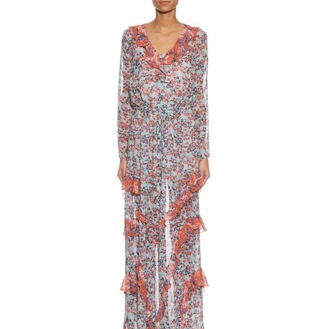 Izzie Floral-Print Silk-Georgette Dress