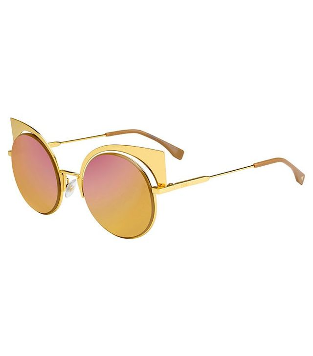 Fendi 0177 Geometric Round Sunglasses