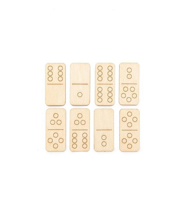 Monocle Walnut Studiolo Travel Dominoes Set