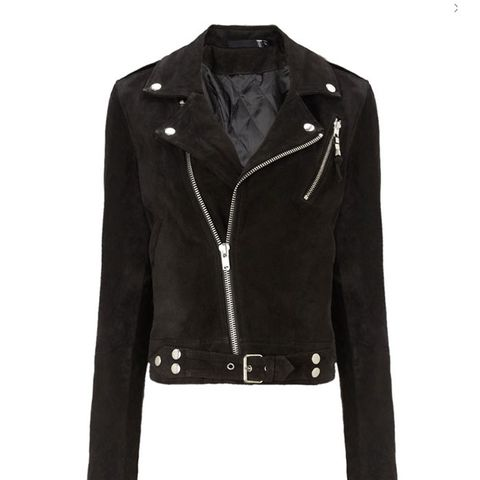 Black Suede Cropped Jacket