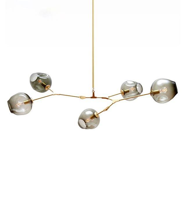 Gede Lighting Crystal Glass Branching Bubble Pendant Light