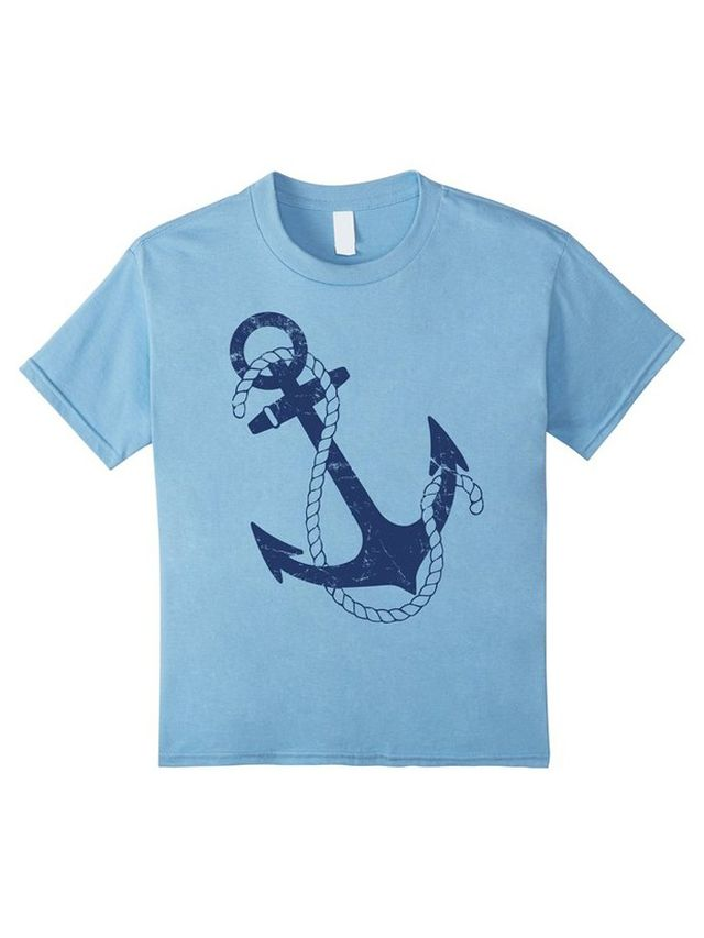 Fabulous Friday Vintage Nautical Anchor Pirate Sailing Boat T-Shirt