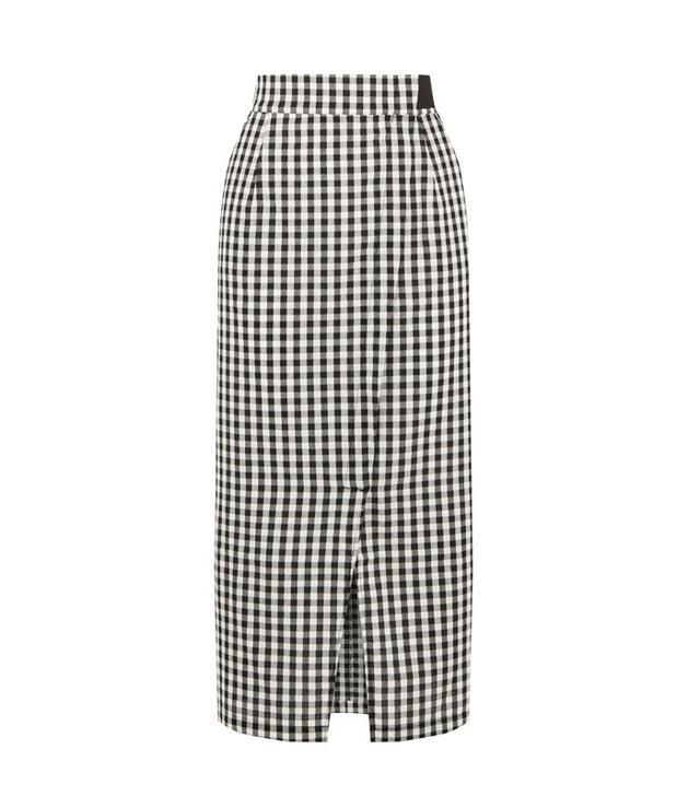 Warehouse gingham skirt