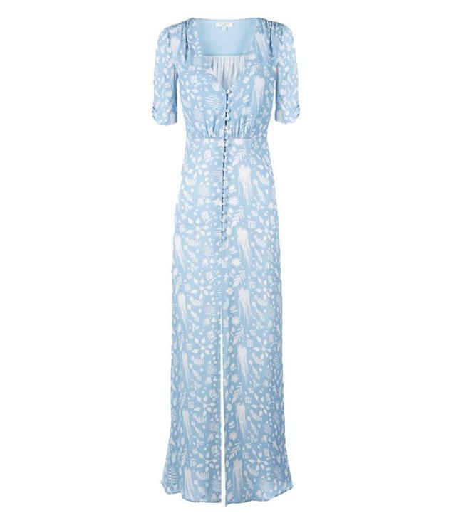 Rixo blue and white dress