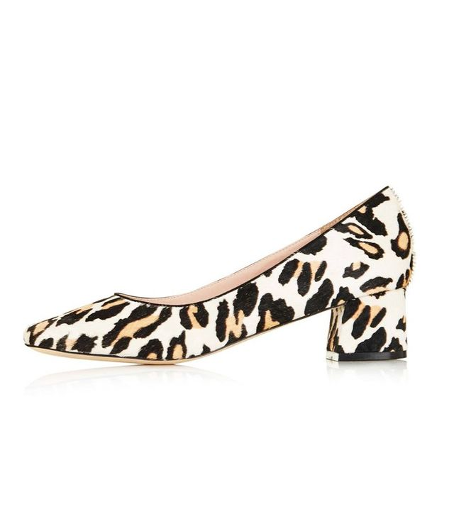Topshop leopard print heels
