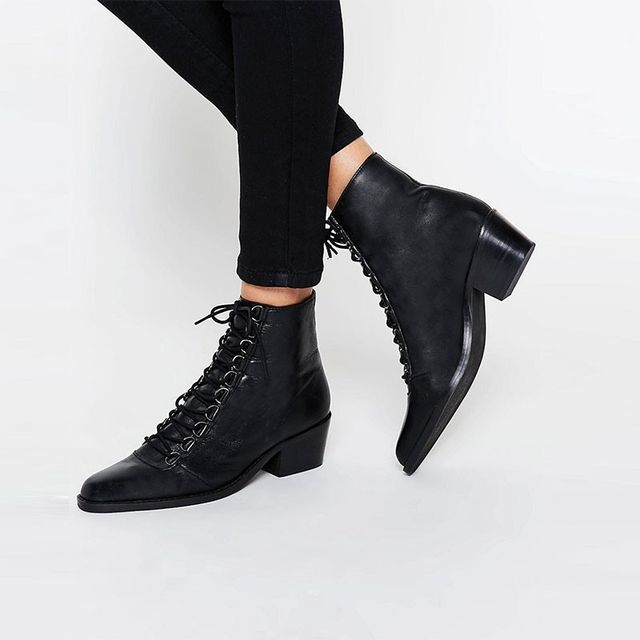 ASOS Ariana Leather Lace Up Boots
