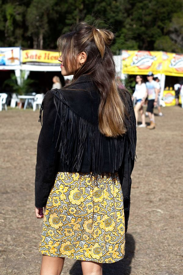 A fringed suede jacket isn't just festival-appropriate. Miranda Kerr stepped out in the trend last year, and proved it's perfect for adding a '70s inspired touch to your look.