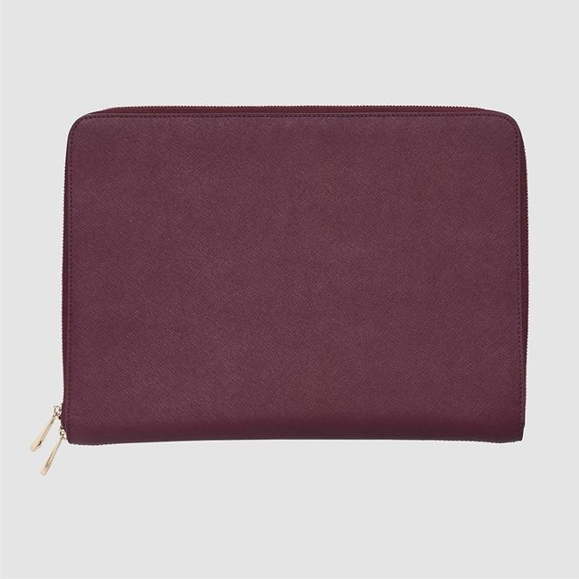The Daily Edited Burgundy Laptop Case