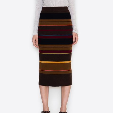 Auguste Merino Stripe Skirt